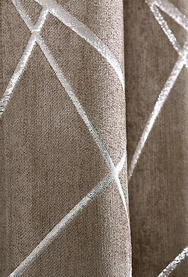 Silver Jacquard Blackout Curtain