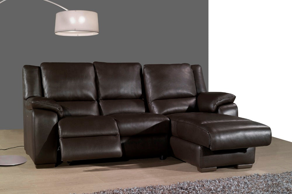 living room sofa Recliner Sofa, cow Genuine Leather Recliner Sofa, Cinema Leather Recliner Sofa sectional L shape home furniture - Trivoshop