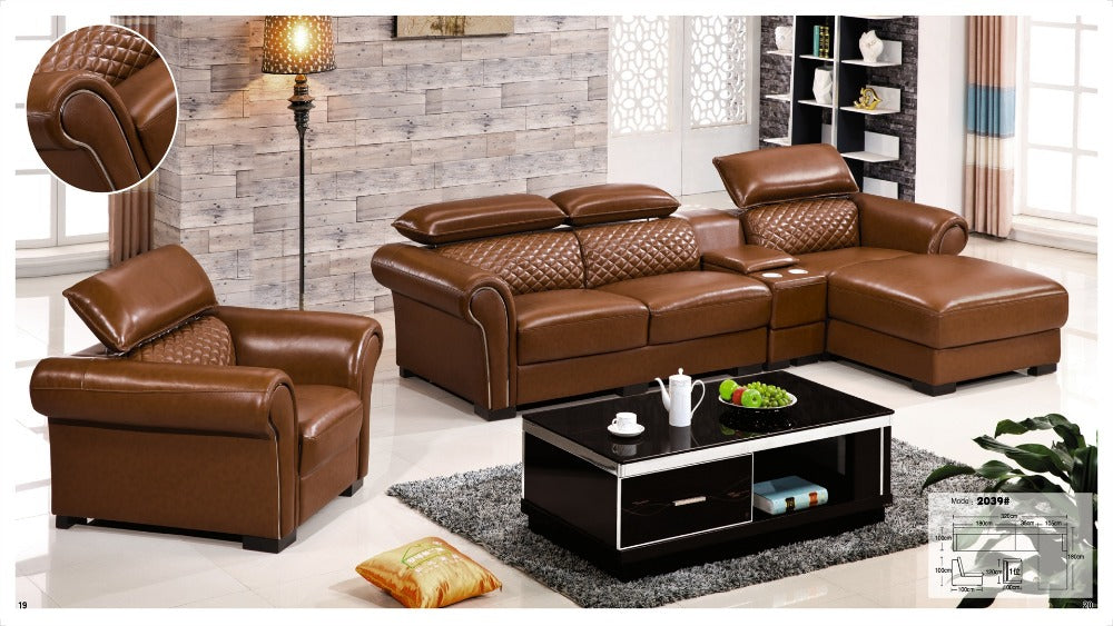 Made In Italy Leather Luxury Contemporary Furniture Set: Iexcellent Designer Corner Sofa Bed,european And American