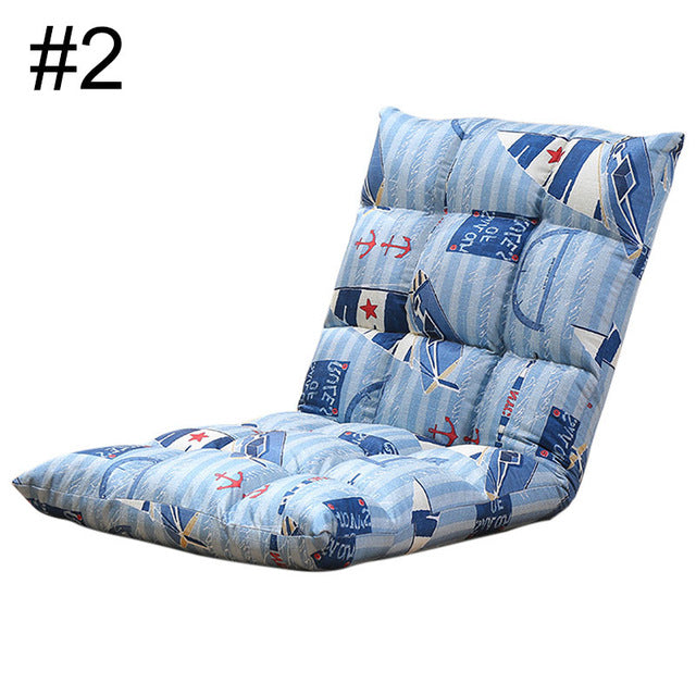 Hot Selling Living Room Furniture Lounge Chair Japanese Lazy Sofa Folding Sofa Bed Breathable Sofa 6 Colors