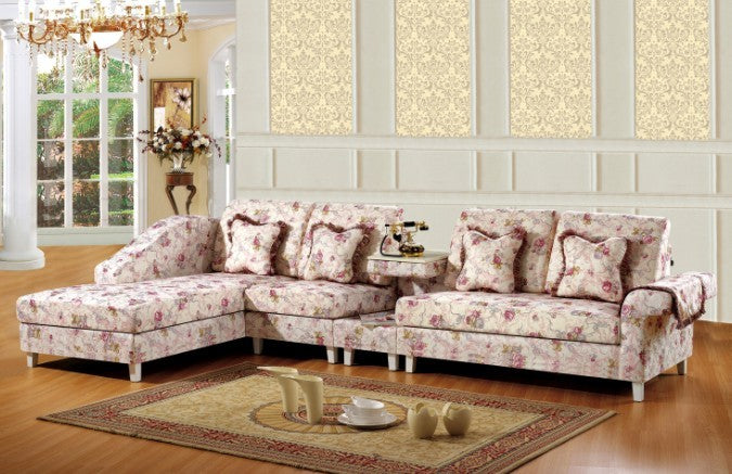 modern pink style Canada living room funiture for fabric sofa/couch set with lounge chair, little tea table,two seater sofa