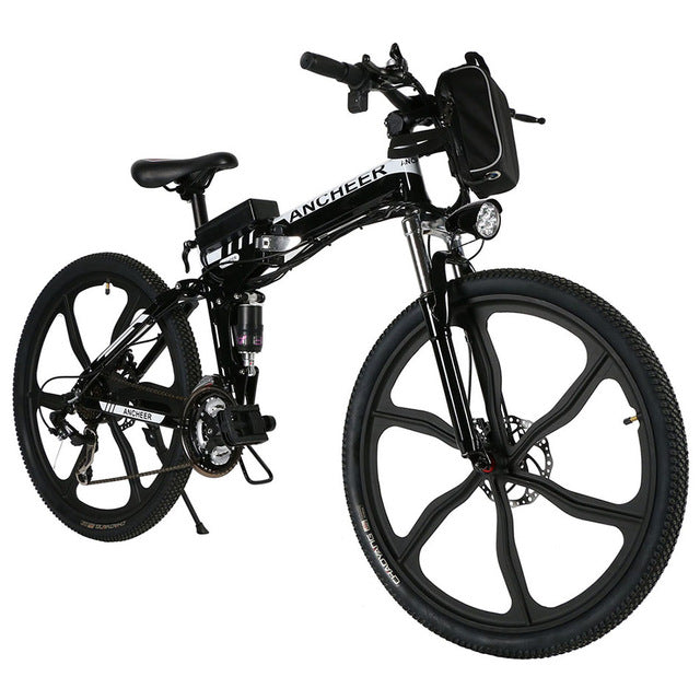 new  26'' 27Speed Folding Electric Disc brake Mountain Bike with Lithium-Ion Battery Anti-shock MTB Disc Brakes Electric Bicycle