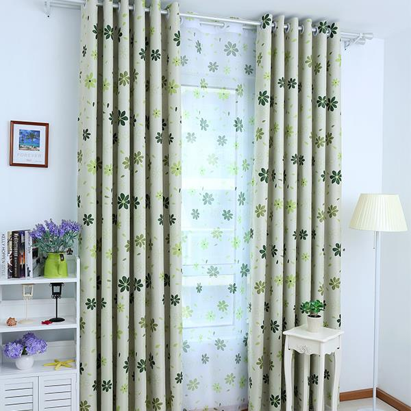 Top Finel 2016 Luxury Modern Shade Petal Blackout Curtains for Living Room the Bedroom Window Treatments Drapes Panel Ready Made