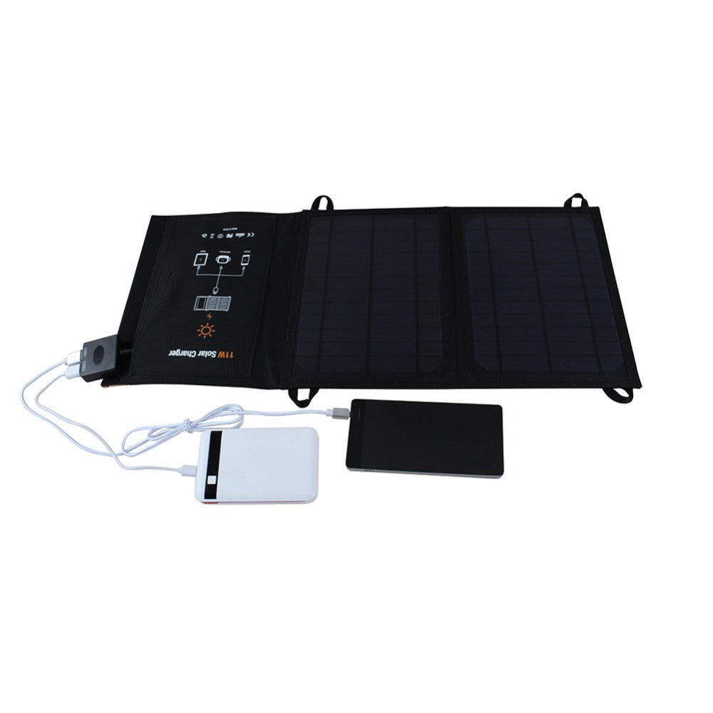 Portable Solar Charger Foldable PowerBank Outdoor Portable Solar Panel Charger for Cell Phone Mobile Phone MP3 11W