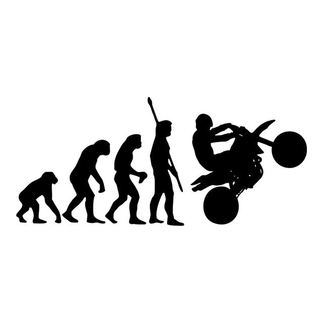 Human Evolution Motorcycle Car Stickers
