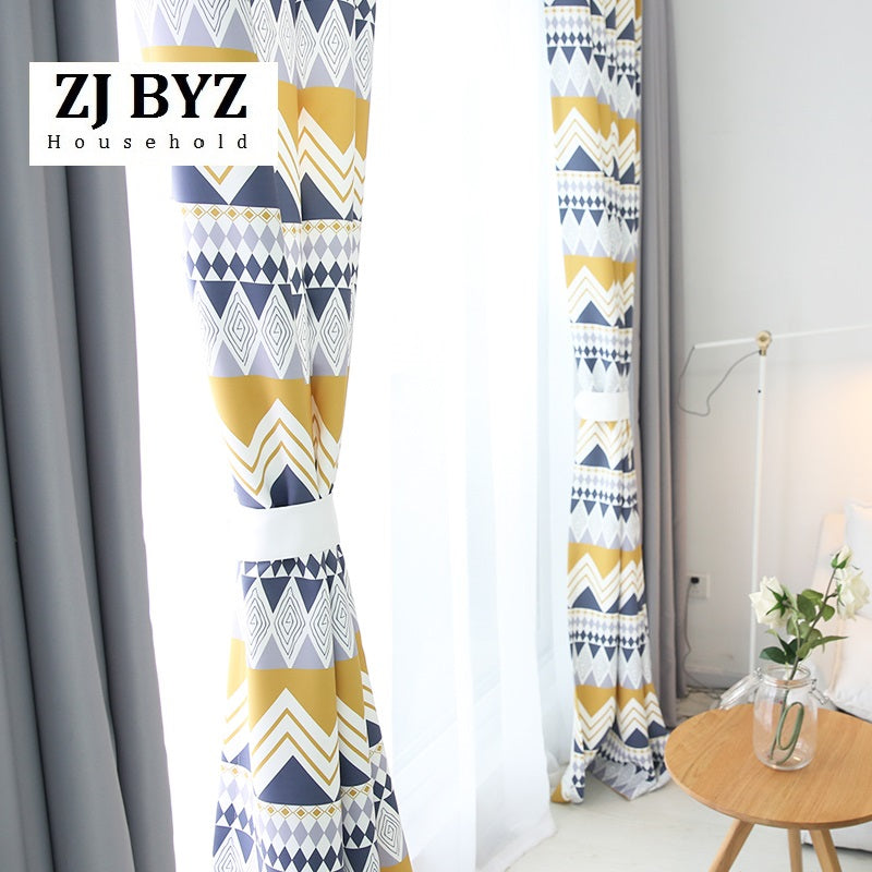 Geometric Custom Curtain