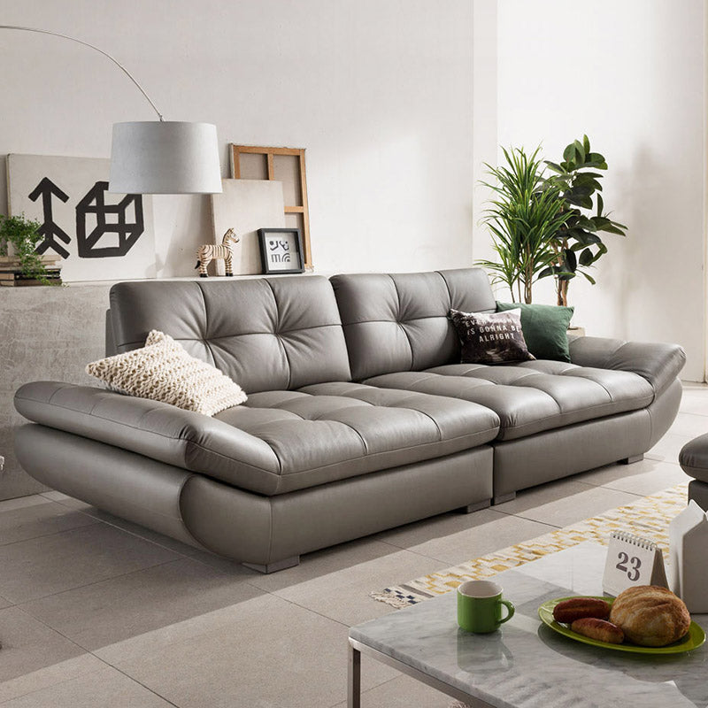 genuine leather sofa sectional living room sofa corner home furniture couch 4-seater functional backrest modern style - Trivoshop