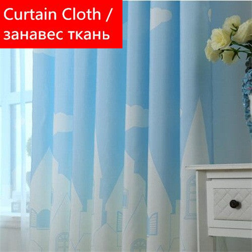 Cartoon Castle Shade Blinds Window Curtains