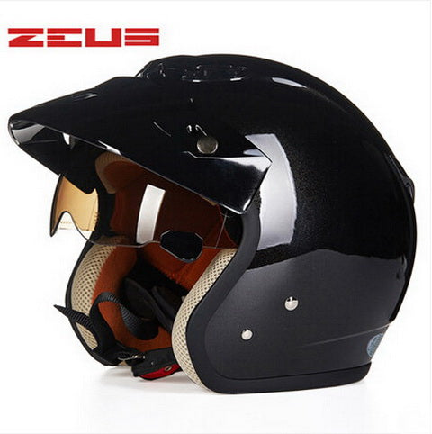 safety electric brand DOT ZEUS ZS-381c DOG 3/4 open face motorcycle helmet with Lining unpick and wash, motorbike helmets - Trivoshop