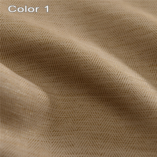 Solid Colors Faux Linen Modern  Blackout Curtains for the Bedroom for Living Room Window Curtains Blinds Custom Made