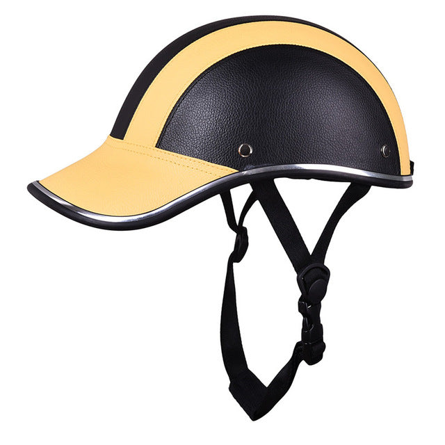 Motorcycle Protective Helmet 55-60 cm Baseball Cap Style Bike Scooter Safety Helmet Half Open Face Hard Hat 6 Color Decoration - Trivoshop