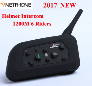 Vnetphone V6 1200M Motorcycle Bluetooth Helmet Intercom Full Duplex for 6 riders BT Wireless motocicleta Interphone Headsets