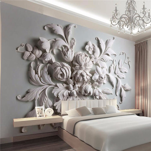 stereoscopic relief european backdrop entrance porch bird leaf 3D photo wallpaper