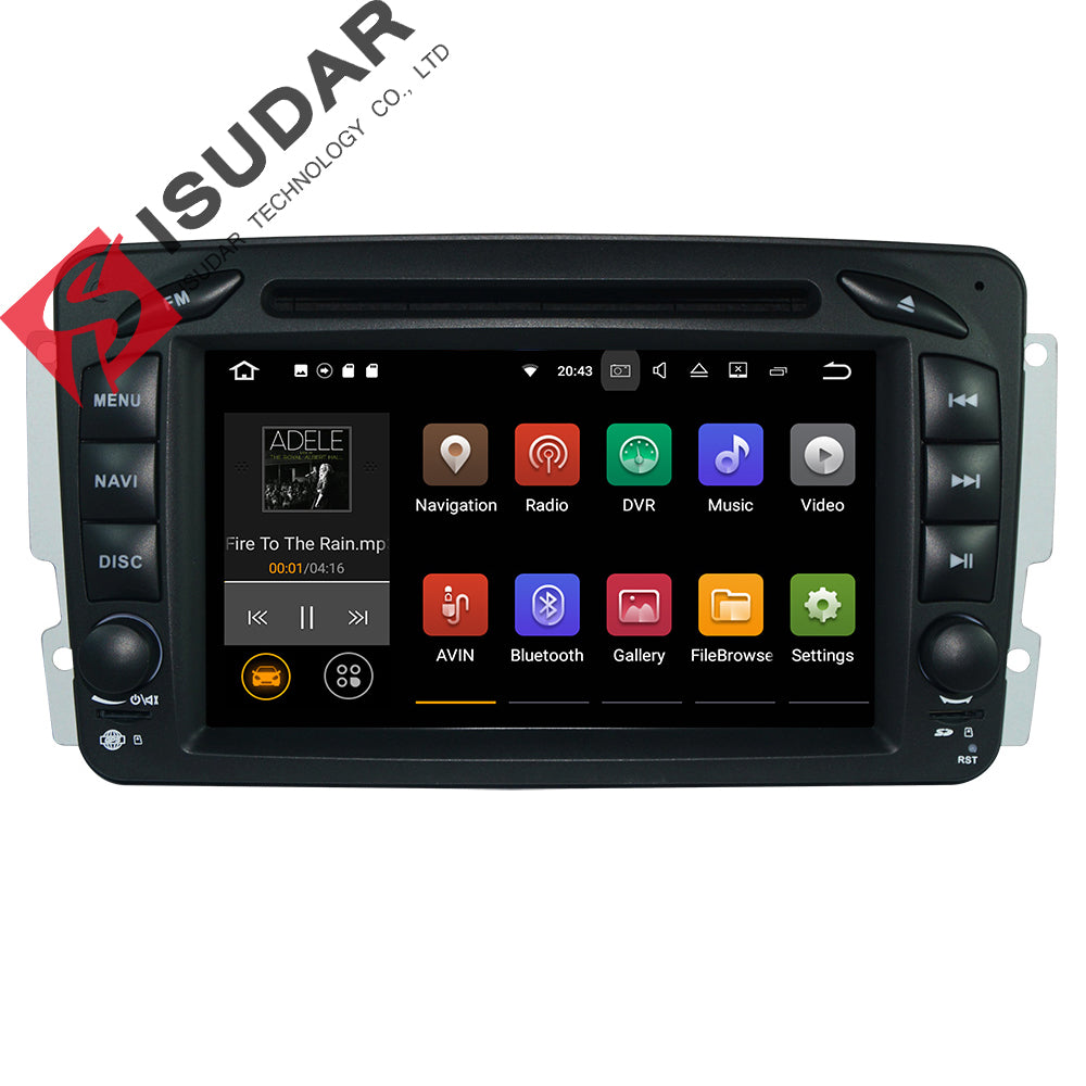 Two Din Android 7.1.1! 7 Inch Car DVD Player For Mercedes/Benz/W209/W203/W168/M/ML/W163/Viano/W639/Vito/Vaneo Wifi GPS FM Radio - Trivoshop