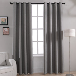 Modern Solid Blackout Curtains for Bed Room Living Room Window Curtain Drapes Shades Window Treatments Gray Cream Purple Brown