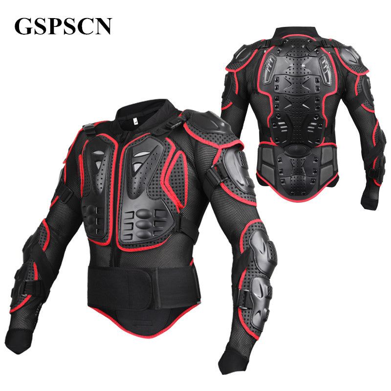 GSPSCN Motorcycle Full Body Armor Motocross Jacket spine chest protection gear Motocross Motos Protector Moto Motorcycle Jacket - Trivoshop