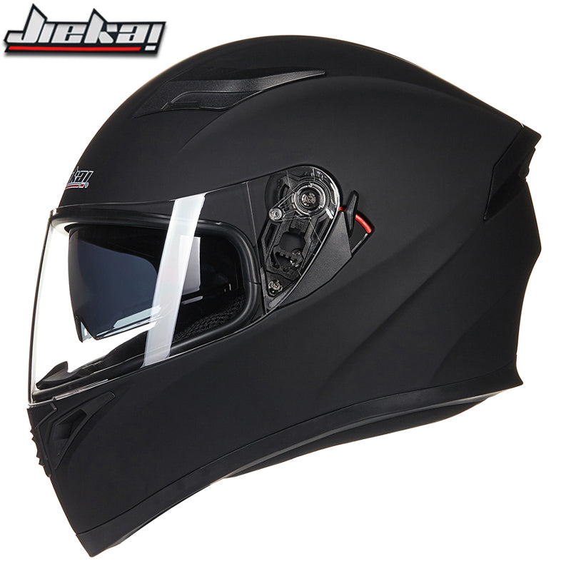 New Arrival double lens motorcycle helmet removable and washable liner Aerodynamic design motorbike helmet male and female - Trivoshop