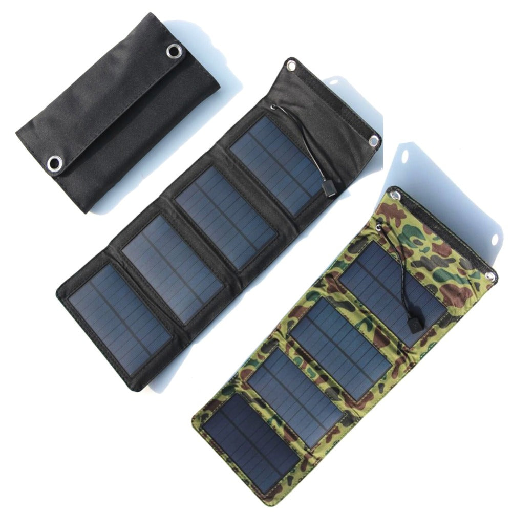 Foldable USB Capming Solar panel Charger