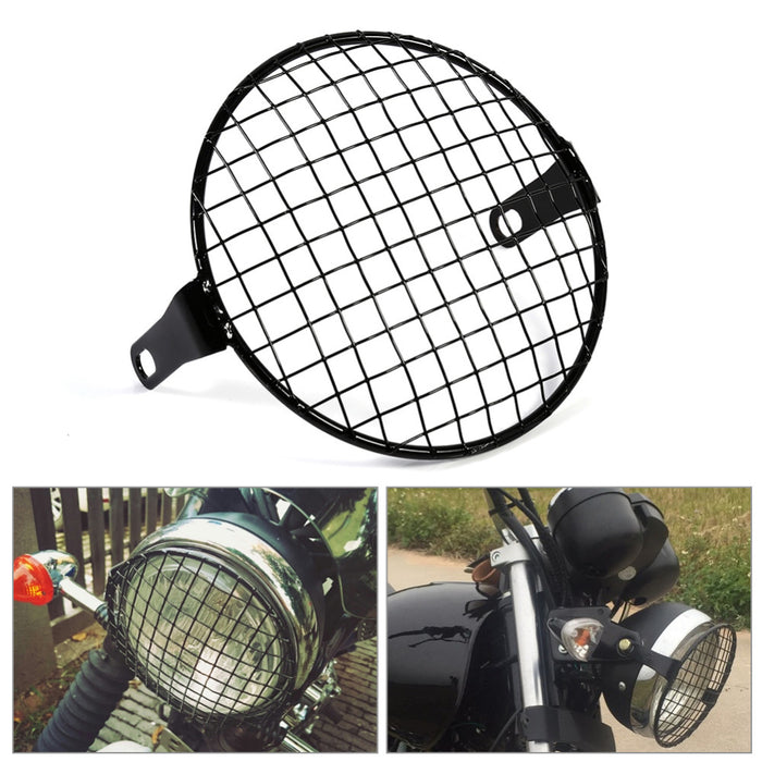 Motorcycle Grill Side Mount Headlight