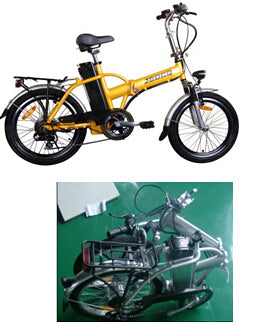 hotselling foldable electric bike ebike lithium battery 20'' pocket bike CE marked electric bicycle scooter factory outlet - Trivoshop