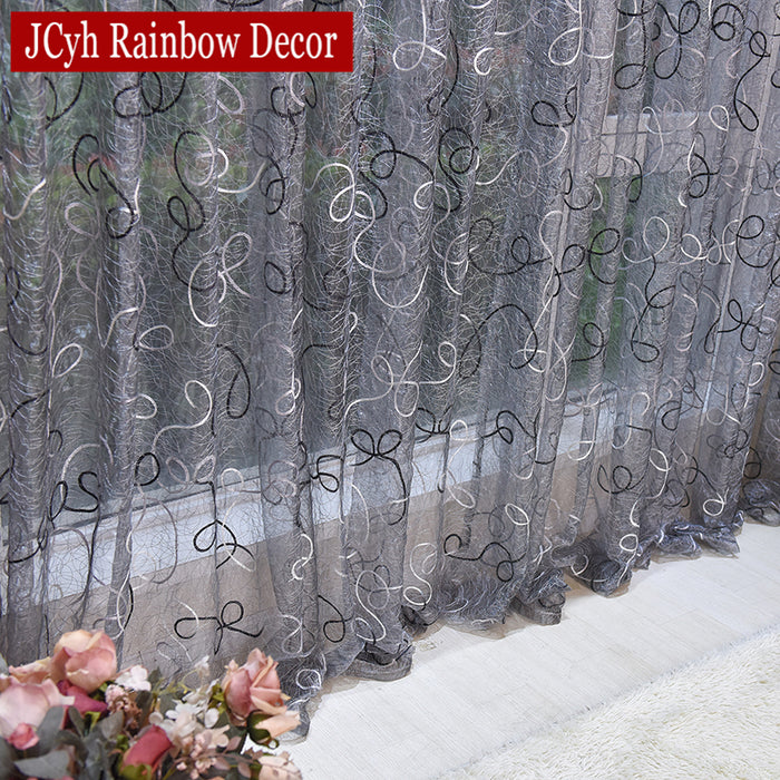 Home Decor Sheer Curtains and Tulle Curtains For Living Room Bedroom Door Kitchen Curtains For Window Children Voile Drapes