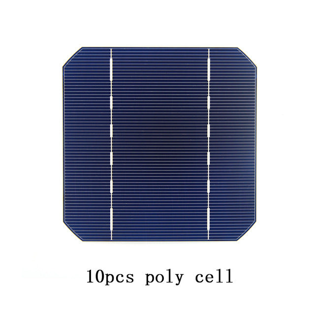 10 Pcs 17.6% 125 x 125MM Mono Solar Cells 5x5 Grade A monocrystalline Silicon PV Wafer For DIY Home Photovoltaic Solar Panels - Trivoshop.com