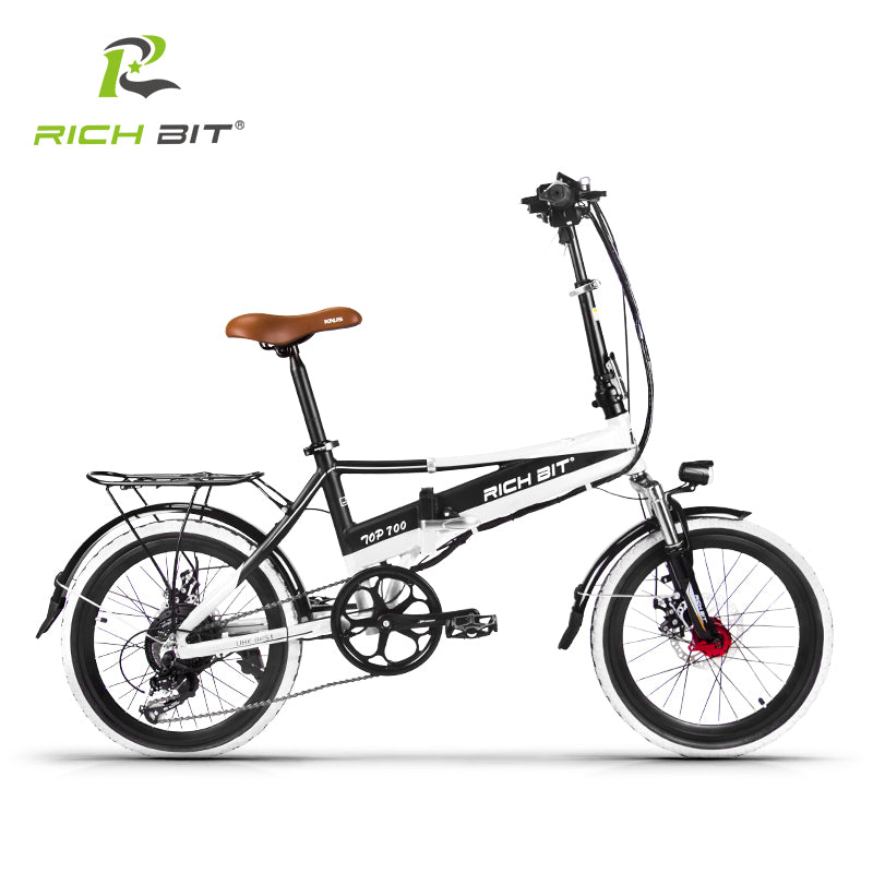Richbit RT-700 Folding 48V 8AH Electric Bike 20 inch Mini Electric Bicycle 250W Mtb ebike with USB Cell Phone Recharger Holder - Trivoshop