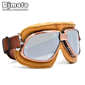 New Arrive Vintage Harley Style Motorcycle Helmet Goggles Scooter Glasses Aviator Pilot Cruiser Steampunk 5 Colors