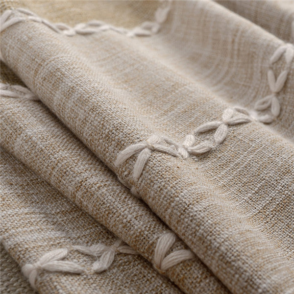 Japan Style Thick Faux Linen Jacquard Curtains for Living Room for Bedroom Window Modern Curtains Custom Made - Trivoshop