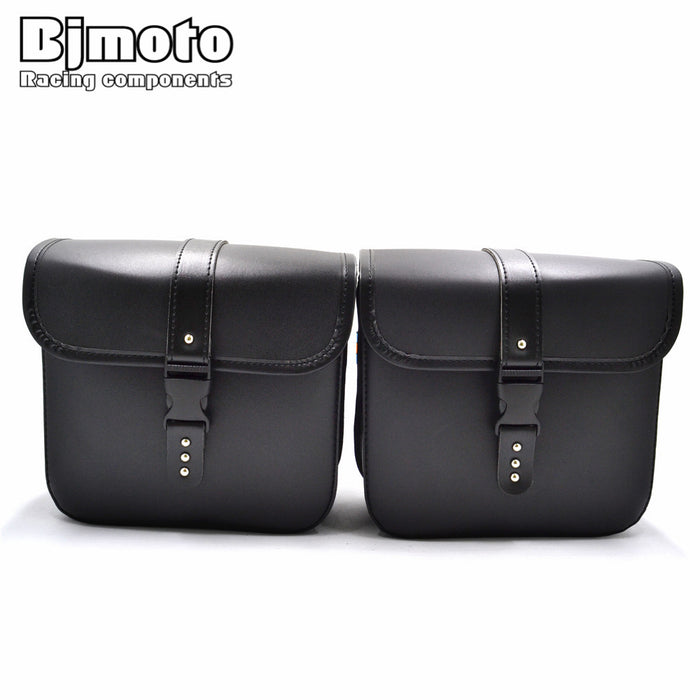 Motorcycle PU Leather Saddlebag Saddle Tool Pouch Side Bag For Harley Cruiser Storage Pouch High Capacity Left and Right - Trivoshop