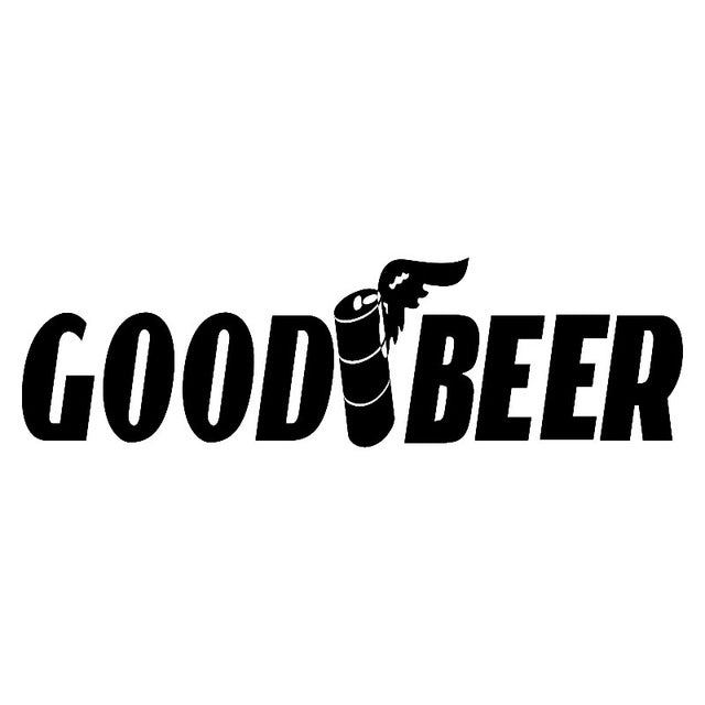 Good Beer Funny Window Car Sticker