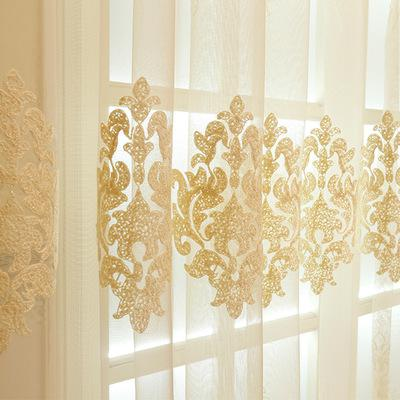 [Slow Soul] New Milk Silk Embroidery Living Room Bedroom Window Curtain Floral Embroidered Modern Curtains For Luxury Cortinas