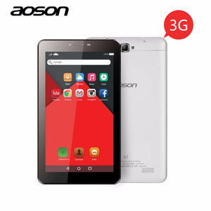 Hot 3G Phablet Aoson S7 7 inch Tablet PC 8GB+1GB IPS Android 5.1 Quad Core Dual Cam Phone Call Tablets GPS Bluetooth 7 8 10 10.1