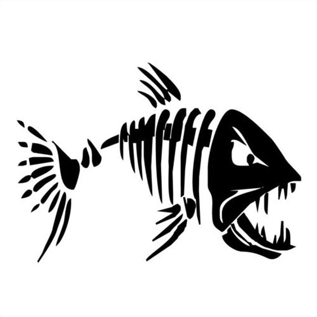 Mad Fish Funny Decal Car Window Stickers