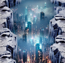 dream water city 3D Wallpaper - Trivoshop
