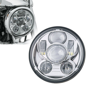 Hot !!!! 5-3/4 5.75 Inch Daymaker Projector LED Headlight for Harley Motorcycles Headlamp 45W Chrome Round Black Led Headlights