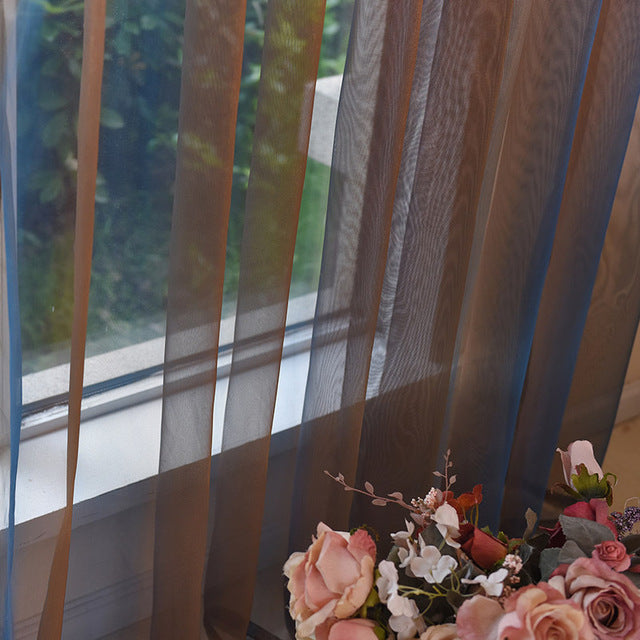 luxury Sheer Tulle Curtains For Living Room Modern Window Sheer Curtain For Bedroom Voile Kitchen Door Curtains Fabric Drapes - Trivoshop