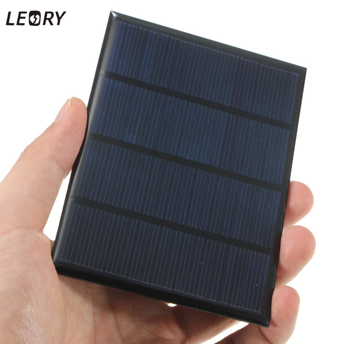 LEORY 12V 1.5W Mini Polycrystalline Solar Panel Epoxy Solar Cells Silicon DIY Battery Power Bank Charger Solar Module System