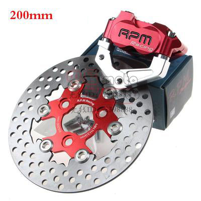 RPM CNC Electric Motorcycle Scooter Brake Calipers 200mm 220mm Disc Brake Pump Adapter Bracket For Yamaha Aerox BWS RSZ - Trivoshop