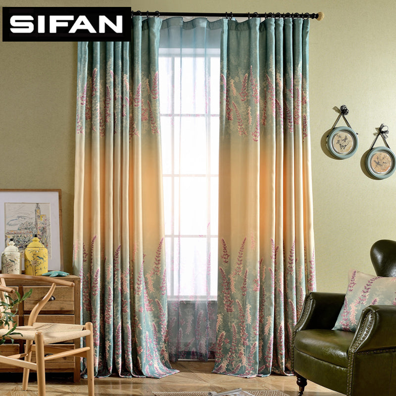 Lavender Fancy Window Curtains for the Bedroom for Living Room Decorative Modern Curtains Drapes Tulle Ready Made