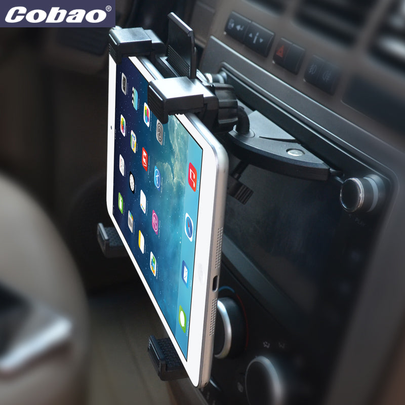 Universal 7 8 9 10 11 inch car tablet PC holder Car Auto CD Mount Tablet PC Holder Stand for iPad 2 3 4 5 Air for Galaxy Tab
