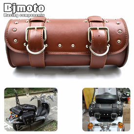 PU Leather Barrel Side Luggage Tool Bag