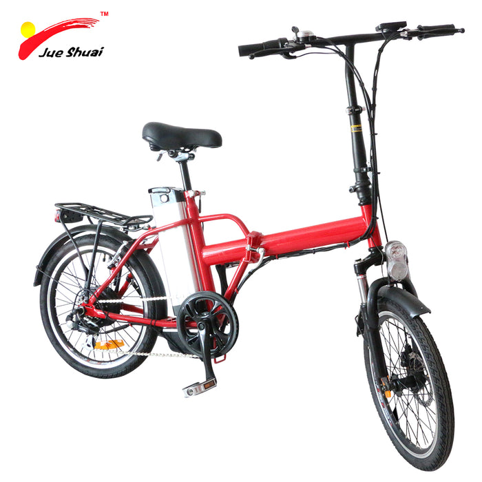 "JS New 20"" 250W Folding Electric Bicycle with Brushless Motor 36V10Ah Lithium Battery Wheel Mini Folding Car Scooter Motorcycle"
