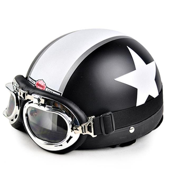 Open Face Half Motorcycle Helmet