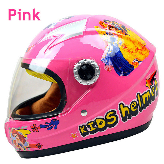 Cartoon Children Motorcycle Helmets