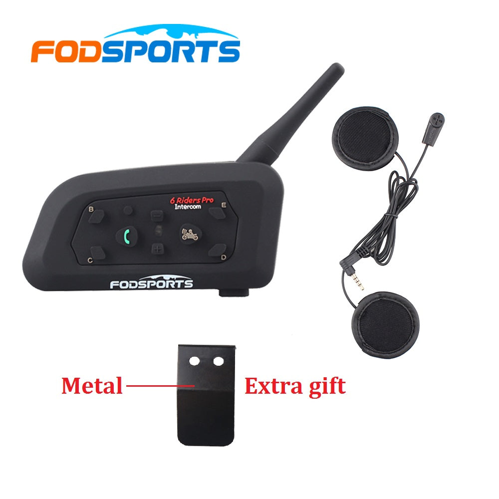 1 pcs 2017 Updated V6 BT Motorcycle Interphone Bluetooth Intercom Headset With Soft Earphone&MIC for Integral/Full Face Helmet - Trivoshop.com
