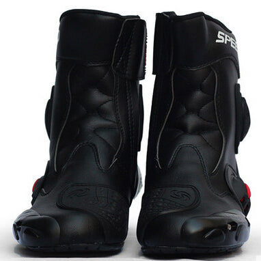 Professional Motorcycle boot Microfiber Leather botas Riding shoes motocross Racing Non-slip Hanging Botas Motorcycle Boots - Trivoshop