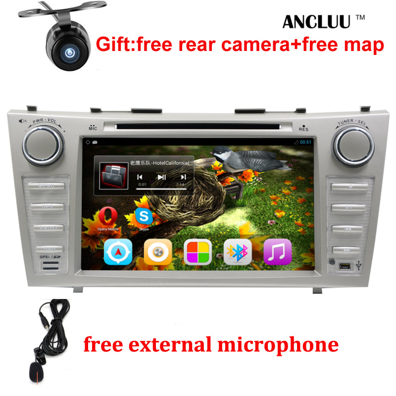 "1024*600 2 Din Quad Core 8"" Android 6.0 Car DVD GPS Navigation For Toyota Camry 2007 2008 2009 2010 Head Unit Car Stereo radio - Trivoshop.com"