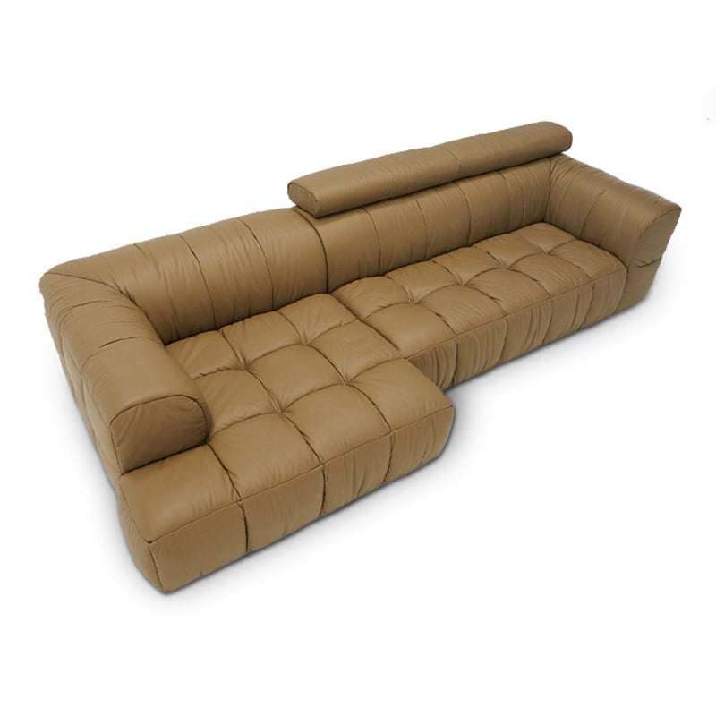 Best Genuine Leather Sectional Sofa: Top Cow Genuine Real Leather Sofa Sectional Living Room