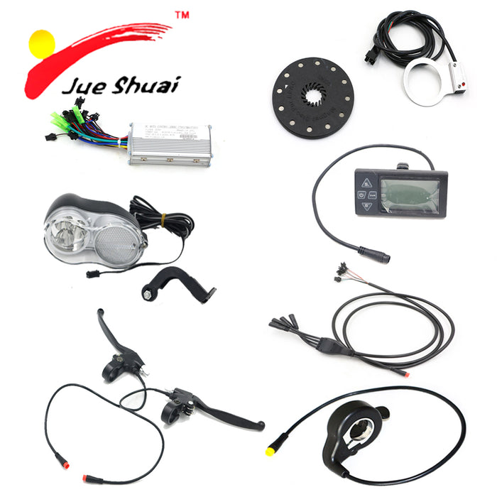 JS 36V 48V Electric Bicycle Components Kit with 250W 500W Controller Head  Light Waterproof LCD Display PAS DIY Cycling Parts - Trivoshop com